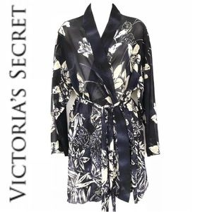 Victoria's Secret Sheer Floral Robe XS/S